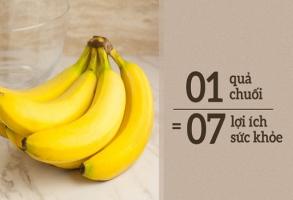 Ăn 1 quả chuối mỗi ngày: Cơ thể cảm ơn bạn về 7 lợi ích tuyệt vời cho sức khỏe