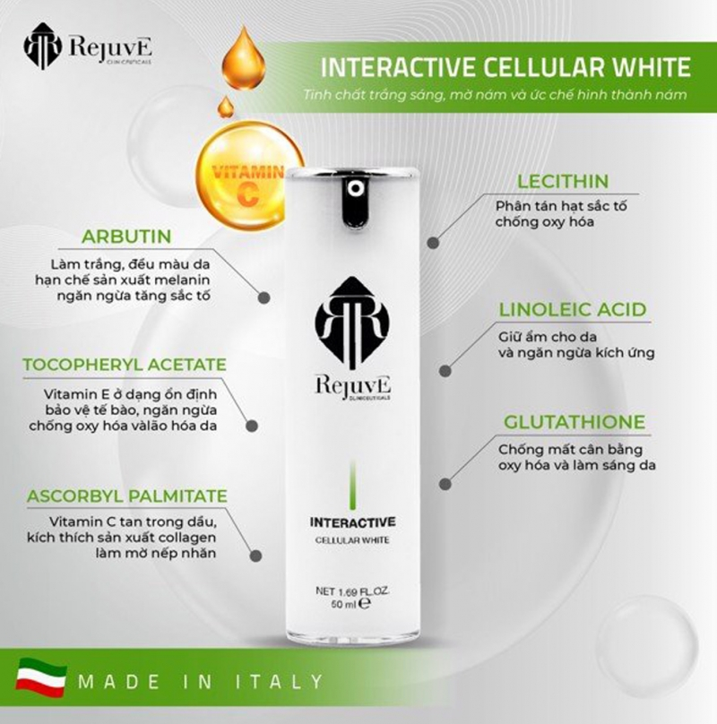 Rejuve Cellular White_ Kem làm trắng sáng đột phá