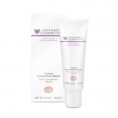 Kem kháng viêm và che khuyết điểm cho da dầu Janssen Oily Skin Tinted Corrective Balm Medium